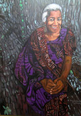"""Edna Lewis"" - Oil Painting by Elaina Shakur"
